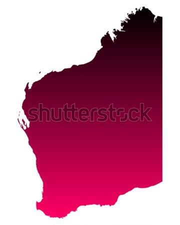 карта западной Австралия розовый вектора Сток-фото © rbiedermann
