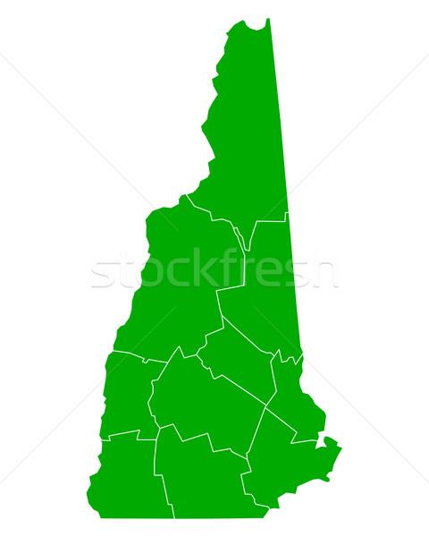Mappa New Hampshire sfondo verde line USA Foto d'archivio © rbiedermann