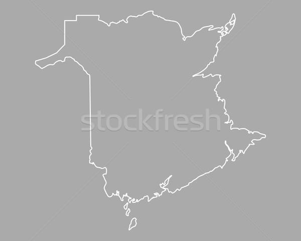Kaart nieuwe vector Canada geïsoleerd grijs Stockfoto © rbiedermann