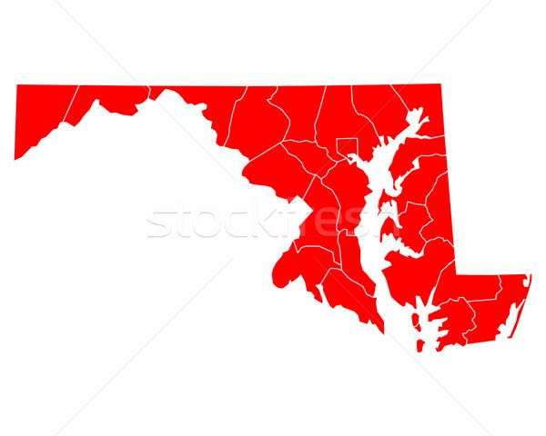 карта Мэриленд путешествия красный США изолированный Сток-фото © rbiedermann