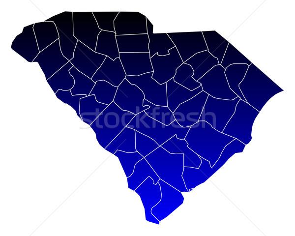 Mappa Carolina del Sud blu USA vettore isolato Foto d'archivio © rbiedermann