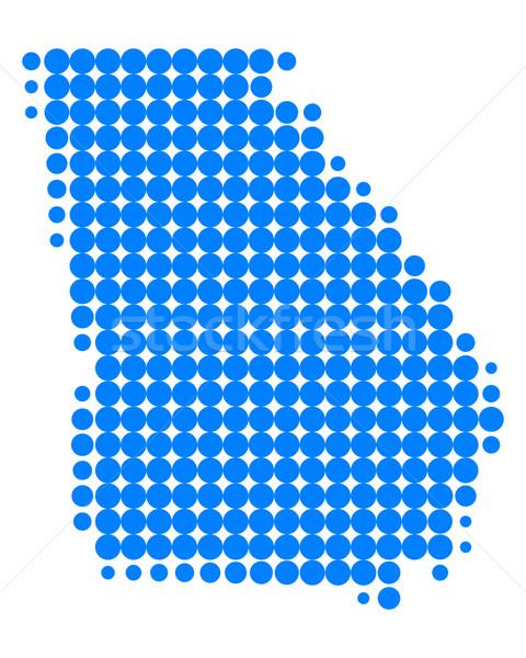 Mappa Georgia blu pattern america cerchio Foto d'archivio © rbiedermann
