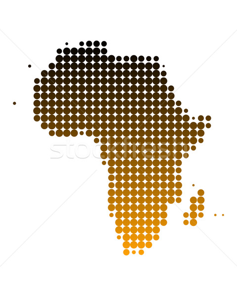 Map of Africa Stock photo © rbiedermann