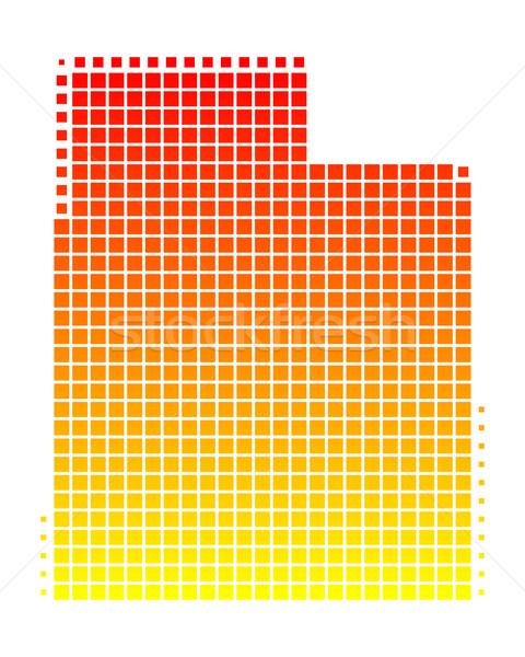 Pokaż Utah wzór Ameryki placu ilustracja Zdjęcia stock © rbiedermann