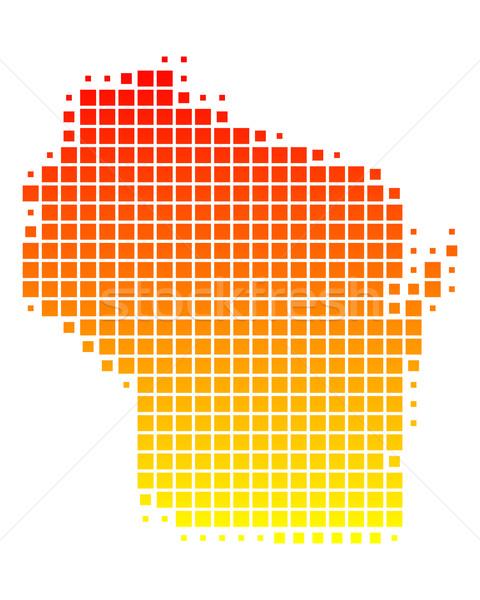 карта Висконсин шаблон США квадратный иллюстрация Сток-фото © rbiedermann