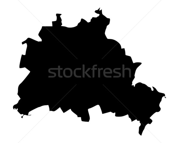 Map of Berlin Stock photo © rbiedermann