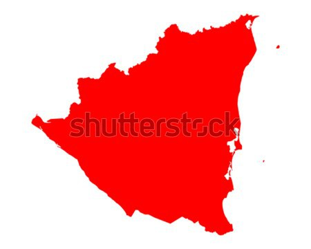 Stock photo: Map of Saxony