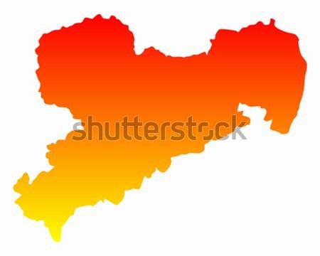 Map of Saxony-Anhalt Stock photo © rbiedermann