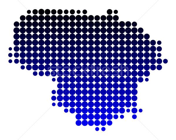 Kaart Litouwen patroon cirkel punt illustratie Stockfoto © rbiedermann