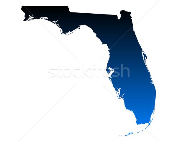 Stock fotó: Térkép · Florida · kék · utazás · Amerika · USA