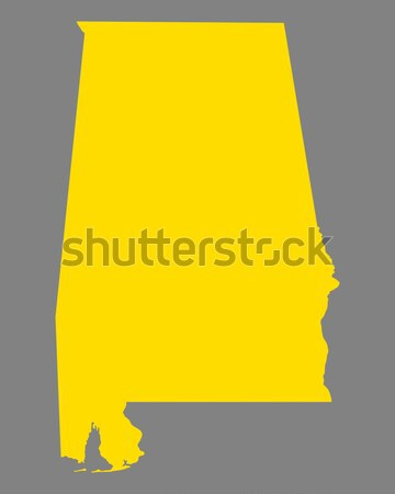 Harita Alabama seyahat Amerika ABD yalıtılmış Stok fotoğraf © rbiedermann