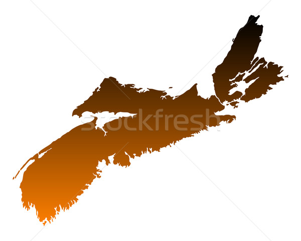 Map of Nova Scotia Stock photo © rbiedermann