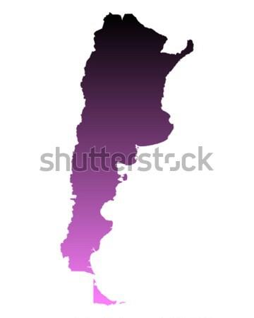 Mapa Argentina fondo línea vector Foto stock © rbiedermann