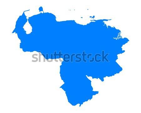 Térkép Venezuela kék vektor izolált Stock fotó © rbiedermann