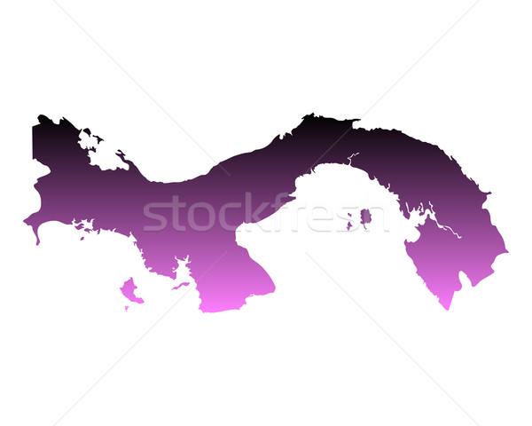 Térkép Panama háttér vonal vektor Stock fotó © rbiedermann