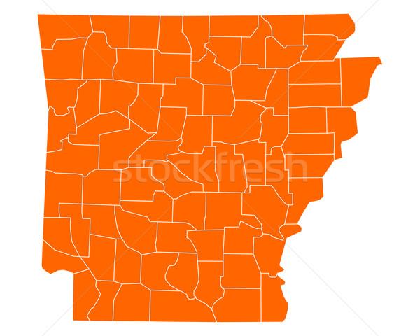 Mapa Arkansas viaje EUA aislado ilustración Foto stock © rbiedermann