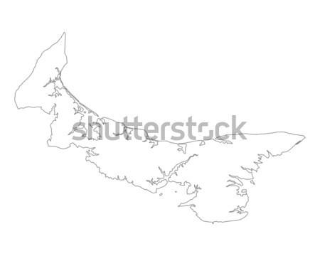 Foto stock: Mapa · isla · del · príncipe · eduardo · isla · Canadá · aislado · ilustración