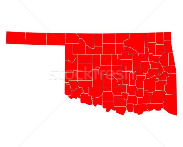 карта Оклахома путешествия красный США изолированный Сток-фото © rbiedermann