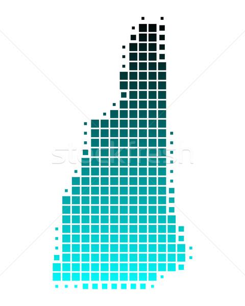 Kaart New Hampshire groene Blauw patroon amerika Stockfoto © rbiedermann