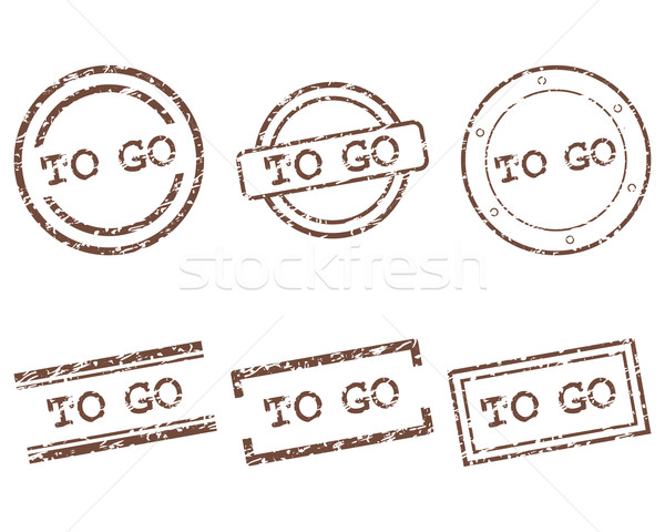 To go stamps Stock photo © rbiedermann