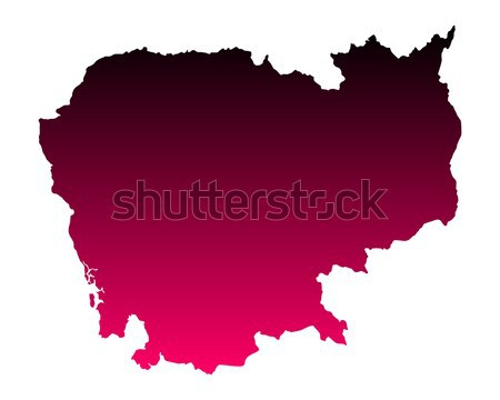 Map of Rhineland-Palatinate Stock photo © rbiedermann