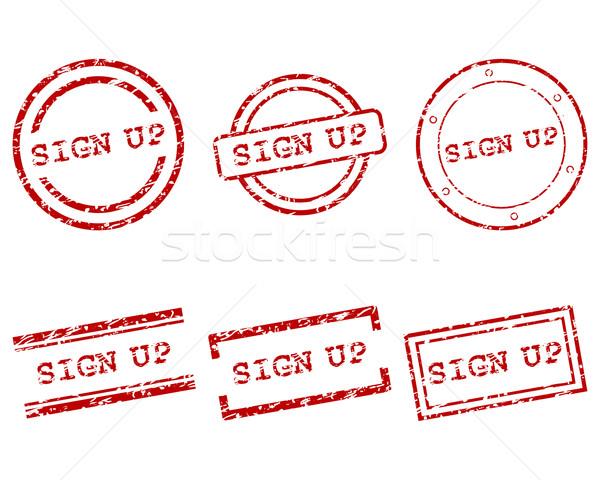 Stockfoto: Teken · omhoog · postzegels · brief · stempel · grafische