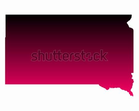 Harita Güney Dakota seyahat pembe Amerika mor Stok fotoğraf © rbiedermann