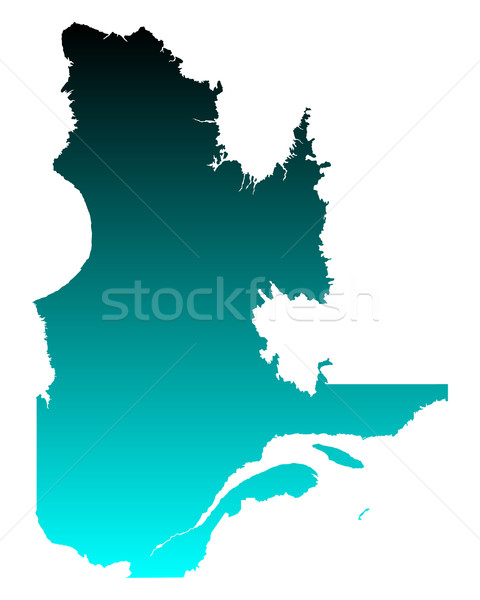 Mapa Quebec verde azul viajar vetor Foto stock © rbiedermann