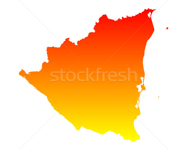 Térkép Nicaragua utazás vektor Stock fotó © rbiedermann
