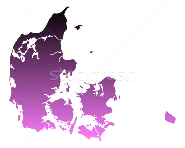 Mapa Dinamarca viaje rosa vector Foto stock © rbiedermann