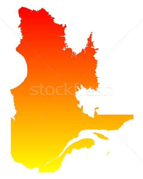 Harita Quebec vektör Kanada yalıtılmış Stok fotoğraf © rbiedermann