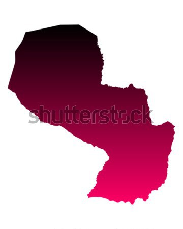Mappa Paraguay viaggio rosa vettore Foto d'archivio © rbiedermann