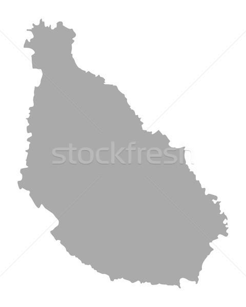 Kaart Santiago vector geïsoleerd illustratie grijs Stockfoto © rbiedermann
