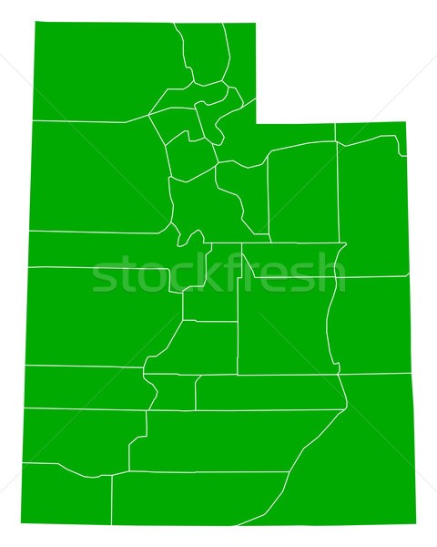 地図 ユタ州 背景 緑 行 米国 ストックフォト © rbiedermann