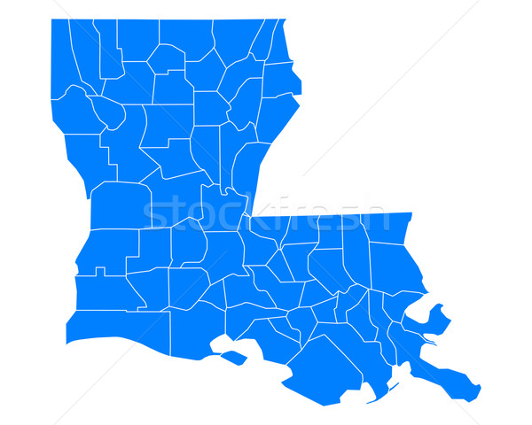 Map of Louisiana Stock photo © rbiedermann