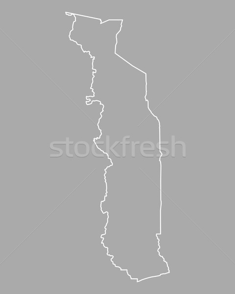 Map of Togo Stock photo © rbiedermann