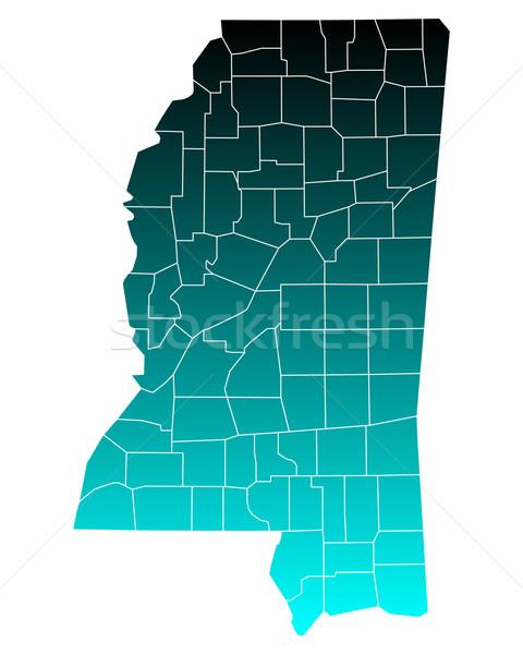 Harita Mississipi yeşil mavi seyahat ABD Stok fotoğraf © rbiedermann