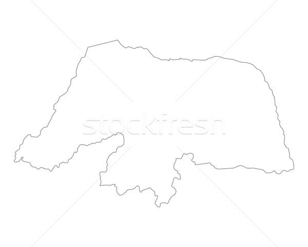 Сток-фото: карта · Рио · вектора · Бразилия · изолированный · серый