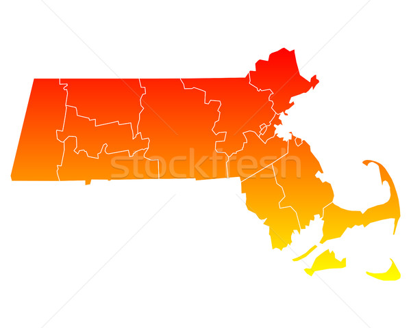 Harita Amerika Birleşik Devletleri vektör yalıtılmış örnek coğrafya Stok fotoğraf © rbiedermann