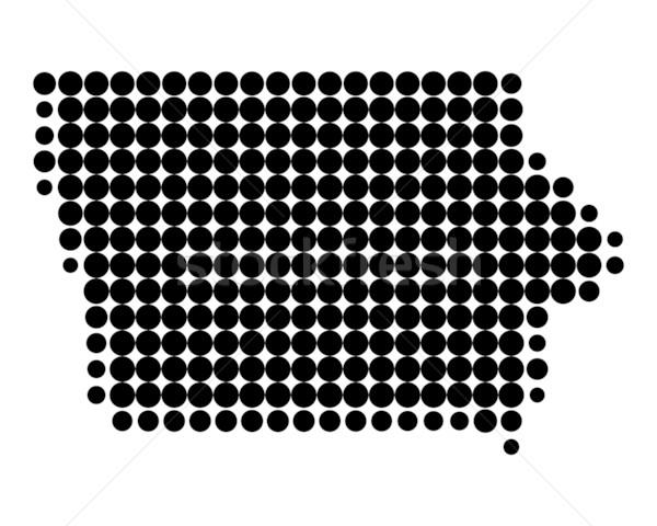 Térkép Iowa fekete minta Amerika kör Stock fotó © rbiedermann