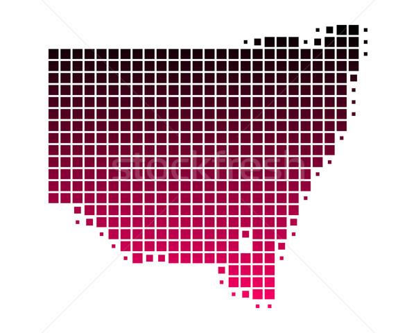 Mapa nueva gales del sur patrón rosa nuevos púrpura Foto stock © rbiedermann