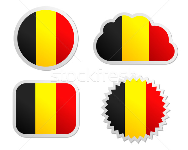 Bélgica bandera papel diseno signo Foto stock © rbiedermann