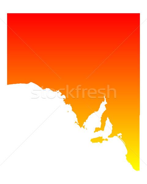 Mapa sul da austrália vetor Austrália isolado ilustração Foto stock © rbiedermann