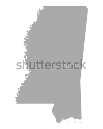 Harita Mississipi arka plan hat Amerika ABD Stok fotoğraf © rbiedermann