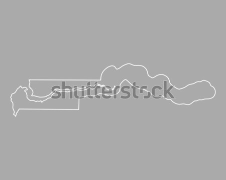 Stock photo: Map of the Gambia