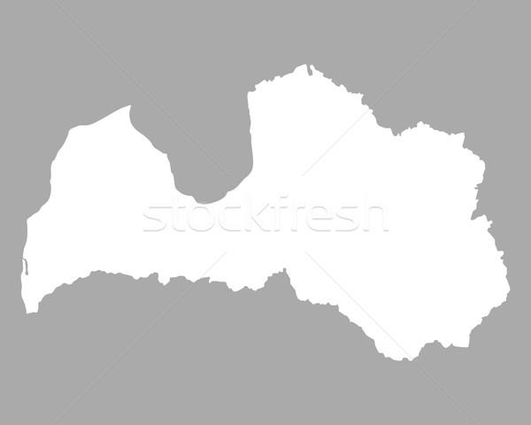 Kaart Letland achtergrond lijn illustratie Stockfoto © rbiedermann