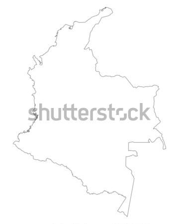 Térkép Colombia háttér izolált illusztráció Stock fotó © rbiedermann