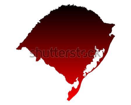 Harita rio kırmızı vektör yalıtılmış örnek Stok fotoğraf © rbiedermann