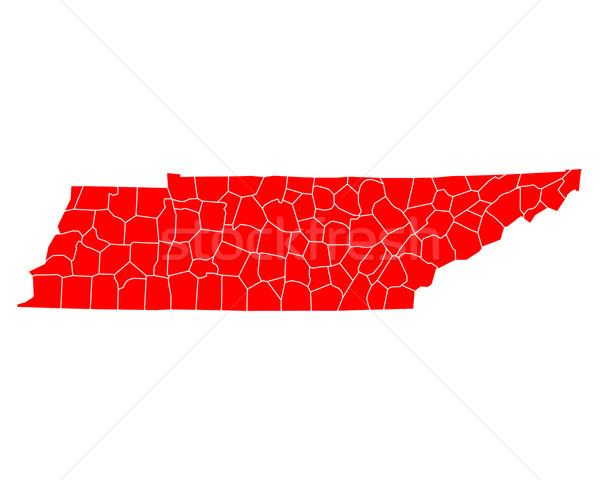 Pokaż Tennessee podróży czerwony USA odizolowany Zdjęcia stock © rbiedermann