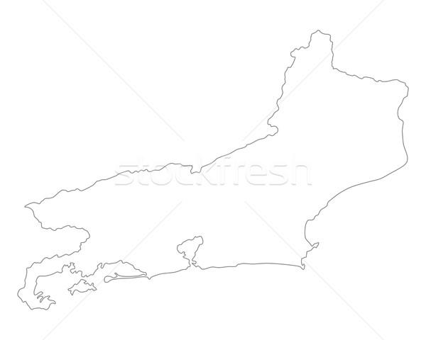 Mapa Rio de Janeiro rio vetor Brasil isolado Foto stock © rbiedermann